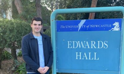 Narrabri local Harry Russell in his second year of a Bachelor of Science at the University of Newcastle.