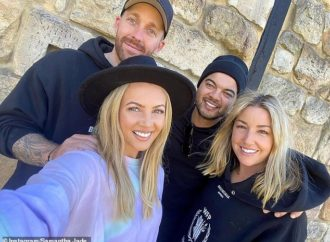 Samantha Jade and fiance enjoy Hunter Valley with Guy Sebastian