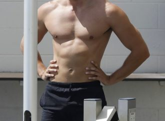 The Bachelorette's Adam Todd enjoys a shirtless workout at Bondi Icebergs