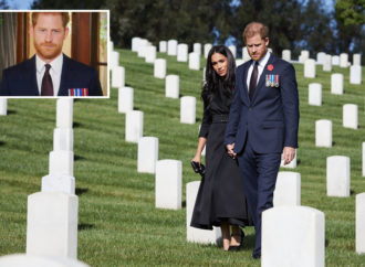 Prince Harry says 'service happens in the quiet when people aren't looking' after Remembrance Day photo shoot backlash